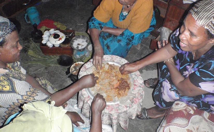 エチオピア国民食 「インジェラ」