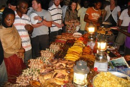 ザンジバルの屋台飯