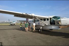 飛行機でセレンゲティへ