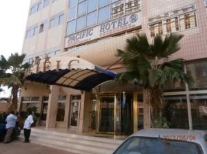 首都のワガドゥグのホテル