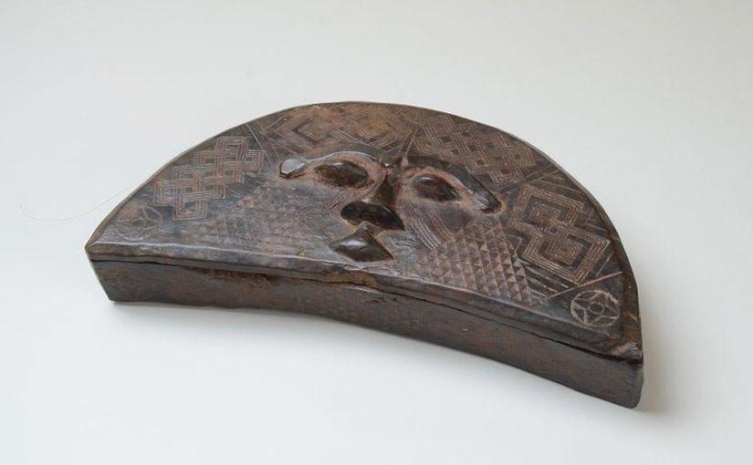 "African Art 26 クバ族の化粧箱 ""TUKULA BOX"""
