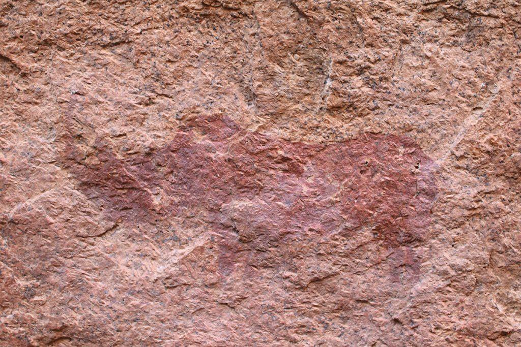 ブッシュマンの人たちが過ごしたスピッツコップは岩絵も残っています