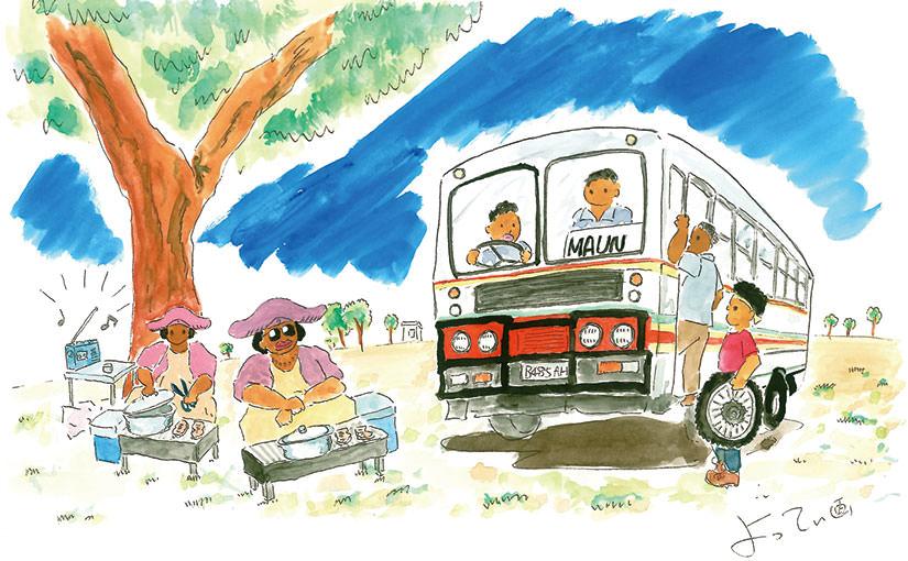 アフリカ絵日記その19 自転車屋求めて三千里