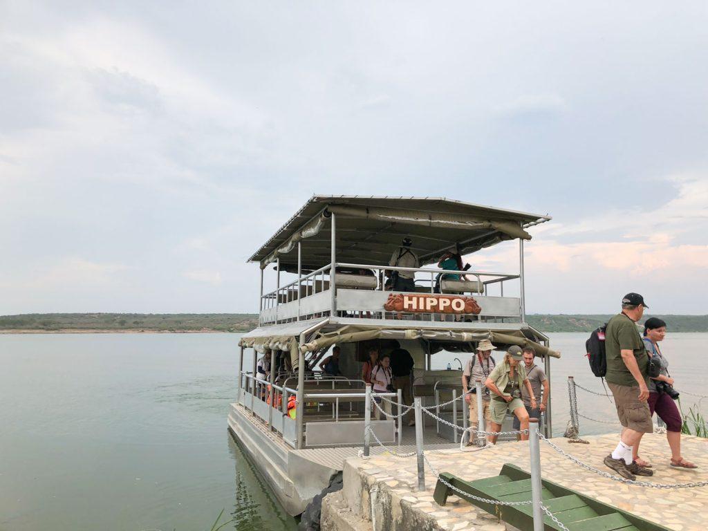 クイーンエリザベス国立公園のボートサファリ。2時間のクルーズです。