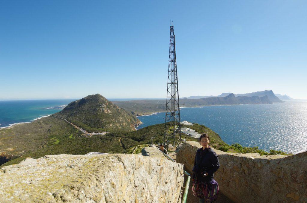 アフリカ大陸最南端、喜望峰。天気が良く、景色が最高でした。