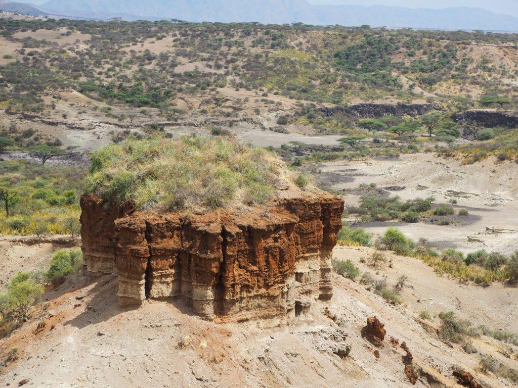 私たちの祖先が発見されたとも言われるオルドバイ峡谷。