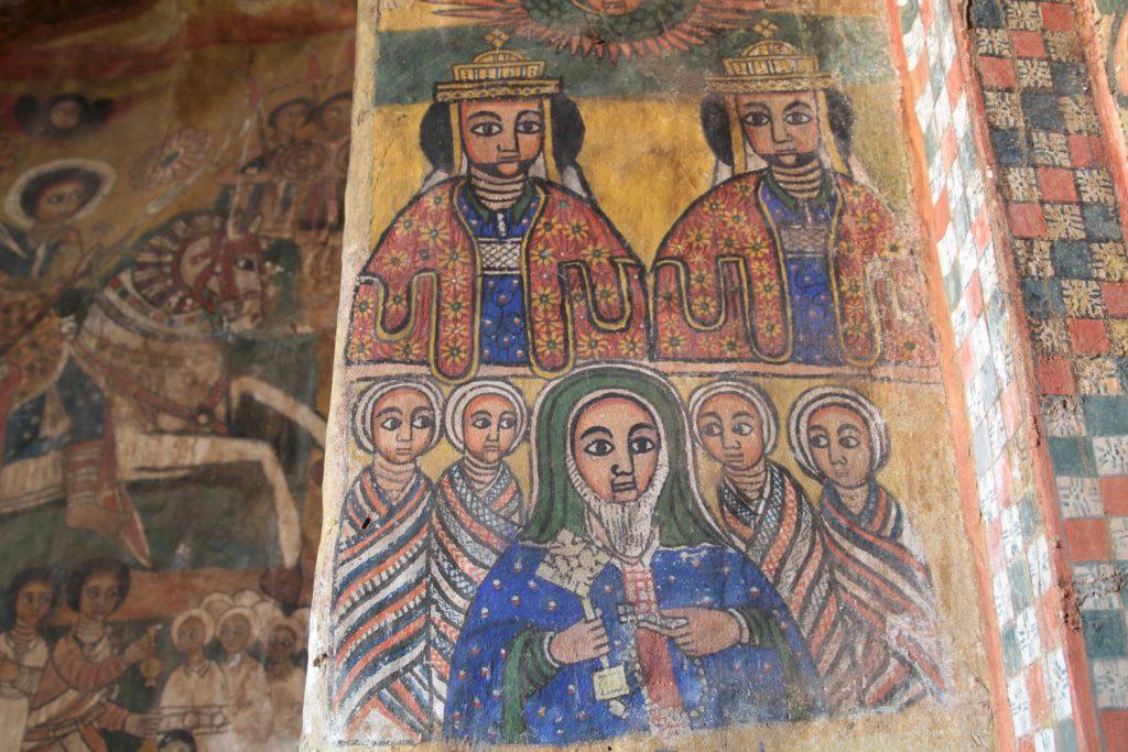 教会を建立した双子の王様の肖像画