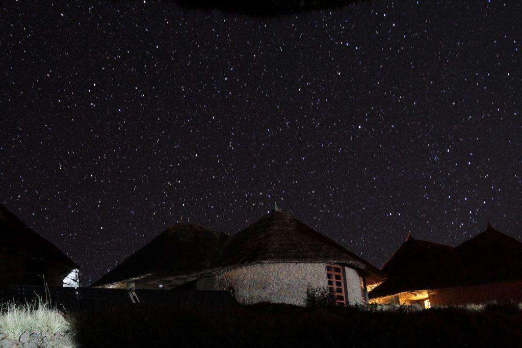 標高も高いため、夜は満天の星空が綺麗に見えました
