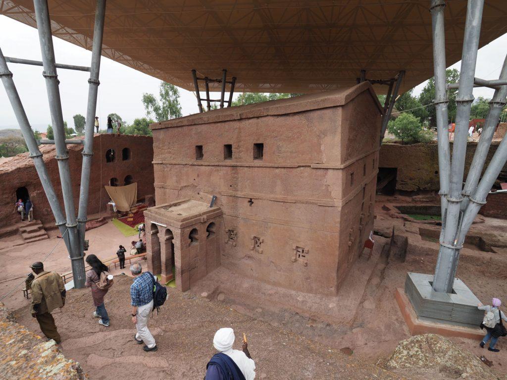 ラリベラの教会群で最古と推定されている聖マリア教会