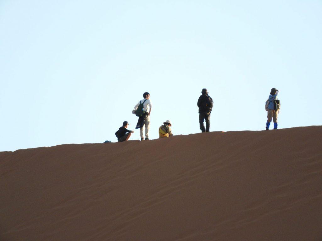 息が切れる思いで登った丘からは広大な風景が見られます。