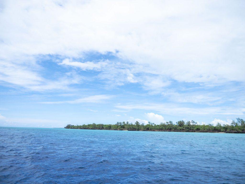 ようやく目的地のペンバ島が見えてきました。