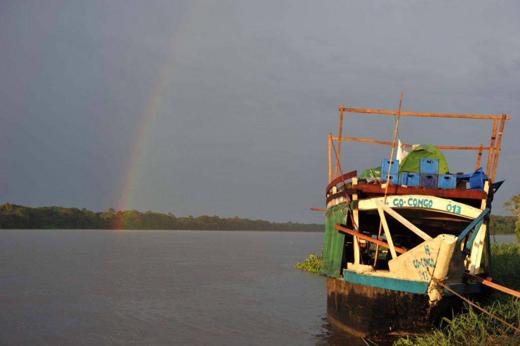 雨が降った後にはきれいな虹も